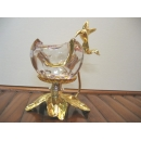 花與蜂鳥燭臺-2 y12804 水晶飾品系列 No.009花與蜂鳥燭臺-2