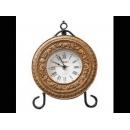 復古造型漢諾桌鐘 y12703 CL.14 時鐘.溫度計.鏡子 桌鐘