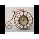 鐵線腳踏車造型桌鐘 y13463 CL.15 時鐘.溫度計.鏡子 桌鐘