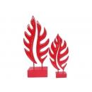 新雕塑-大小鏤葉(紅) y09525 立體雕塑.擺飾 立體擺飾系列-幾何、抽象系列