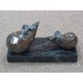 y03094-銅雕-金錢對鼠