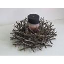 y10962燭臺-天然樹枝系列-樹枝圓形玻璃蠋台(不含蠟燭)