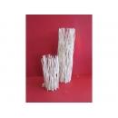 y10964燭臺-天然樹枝系列-白木圓形玻璃蠋台一對
