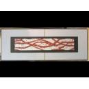 銀底紅樹根 y12977 玻璃壁飾系列