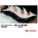 y11217 餐茶玻璃-餐具用品/器具-黑白果盤/2入/1組