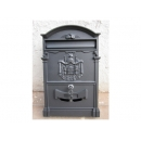y12292 金屬工藝品 城堡信箱 灰色 (另有白色可選購) #51(補貨中)