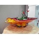 藝術玻璃-水果盤(大) y12358 水晶飾品系列 A11