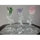 藝術玻璃-夜光玫瑰 y12366 水晶飾品系列 (綠色、紫色、粉紅色) C18
