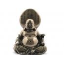 電鍍銅雕-佛教系列-彌勒笑佛-左手拿玉如意 y12461 立體雕塑.擺飾 人物立體擺飾 系列-中式人物系列(尚有他款)