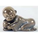 可愛小和尚-休息 y12457 立體雕塑.擺飾 人物立體擺飾 系列-中式人物系列