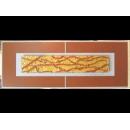 金底紅樹根 y12975 玻璃壁飾系列