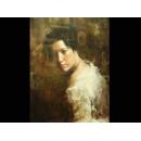 注目凝視(已售)-y01089-油畫