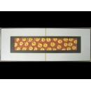 紅底金玫瑰 y12978 玻璃壁飾系列