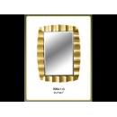 金箔波浪鏡子 y12688 時鐘.溫度計.鏡子 鏡子 (9004-1-G)