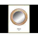 金色漩渦圓鏡 y12686 時鐘.溫度計.鏡子 鏡子(9005-4-G)