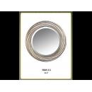 銀色漩渦圓鏡 y12685 時鐘.溫度計.鏡子 鏡子 (9005-5-S)