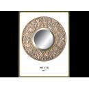 銅製古典四瓣花圓鏡 y12684 時鐘.溫度計.鏡子 鏡子 (9011-1-G)