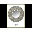 銀製古典四瓣花圓鏡 y12683 時鐘.溫度計.鏡子 鏡子 (9011-2-S)
