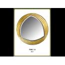 金色優雅圓鏡 y12680 時鐘.溫度計.鏡子 鏡子(9048-1-G)