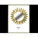 金色太陽圓鏡 y12673 時鐘.溫度計.鏡子 鏡子(9059-2-G)