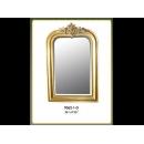 金色方形雅致壁鏡 y12672  時鐘.溫度計.鏡子 鏡子 (9062-1-G)