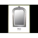 銀色方形雅致壁鏡 y12671 時鐘.溫度計.鏡子 鏡子(9062-2-S)