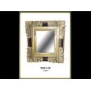 金色方框花邊鏡 y12670 時鐘.溫度計.鏡子 鏡子 (9068-1-GB)