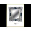 y12669 銀色方框花邊鏡(9068-2-SB)