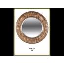 蛇紋銅製圓鏡 y12662 時鐘.溫度計.鏡子 鏡子(9106-1-G)