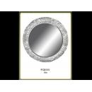 銀花圖騰圓鏡 y12660 時鐘.溫度計.鏡子 鏡子(9135-2-S)