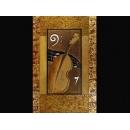 y01042 金箔版畫 大提琴(BE071)