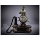 y12495 水手船長木質復古電話 CY-528-1