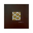 銀底金玫瑰 y12943玻璃壁飾系列