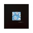 藍底銀玫瑰 y12941 玻璃壁飾系列