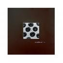 銀底黑玫瑰 y12940 玻璃壁飾系列