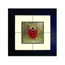 瓢蟲(2) y03001 玻璃壁飾系列