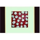 紅底銀玫瑰 y12966 玻璃壁飾系列