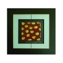 紅底金玫瑰 y12961 玻璃壁飾系列