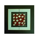 紅底銀玫瑰 y12960 玻璃壁飾系列