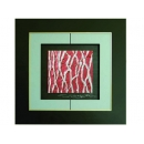 紅底銀樹根 y12956 玻璃壁飾系列