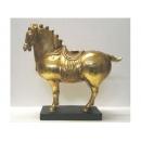 No.005 玻麗仿銅-金箔唐馬 y13136 立體雕塑.擺飾 立體雕塑系列-動物雕塑系列