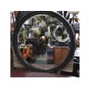 銀龍滾邊圓鏡 y12668 時鐘.溫度計.鏡子 鏡子(9075-1-PT)