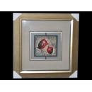 y13236-ID0073瓷漆畫-紅鳥
