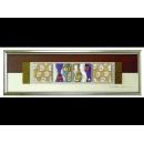 金底銀玫瑰 y12953 玻璃壁飾系列