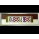 銀底紅玫瑰 y12952 玻璃壁飾系列