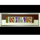 金底紅玫瑰 y12950 玻璃壁飾系列
