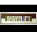 銀底金玫瑰 y12949 玻璃壁飾系列