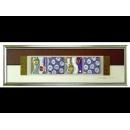 紫底銀玫瑰 y12947 玻璃壁飾系列
