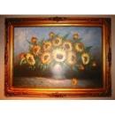y00912 油畫 向日葵花束