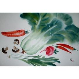 常美水彩畫-4K蔬菜(y01924-4D水彩)